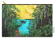 Carry-all Pouch featuring the painting Panther Island In The Bayou by Alys Caviness-Gober
