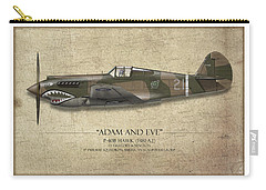 Pappy Boyington P-40 Warhawk - Map Background Carry-all Pouch