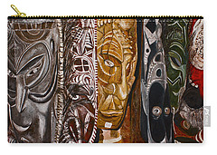 Papua New Guinea Masks Carry-all Pouch