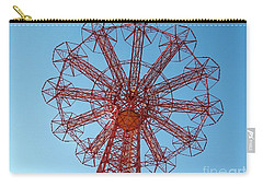 Carry-all Pouch featuring the photograph Parachute Jump-coney Island by Ed Weidman