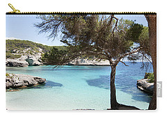 Paradise In Minorca Is Called Cala Mitjana Beach Where Sand Is Almost White And Sea Is A Deep Blue  Carry-all Pouch by Pedro Cardona