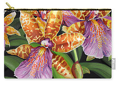 Carry-all Pouch featuring the painting Paradise Orchid by Jane Girardot