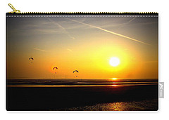 Paragliders At Sunset Carry-all Pouch