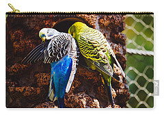 Parakeets Carry-all Pouch by Pati Photography