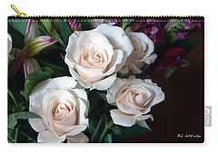 Carry-all Pouch featuring the photograph Pardon My Blush by RC deWinter