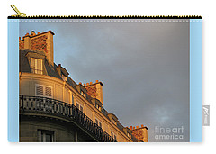 Carry-all Pouch featuring the photograph Paris At Sunset by Ann Horn