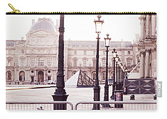Paris Bicycle Louvre Museum - Paris Bicycle Street Lantern - Paris Bicycle Louvre Museum Street Lamp Carry-all Pouch