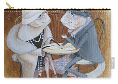 Carry-all Pouch featuring the painting Paris Cafe by Marina Gnetetsky