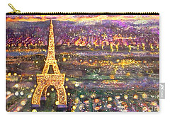 Paris City Of Lights Carry-all Pouch