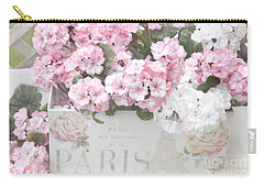Paris Dreamy Romantic Cottage Chic Shabby Chic Paris Flower Box Carry-all Pouch