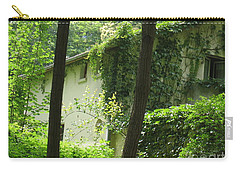 Paris - Green House Carry-all Pouch by HEVi FineArt