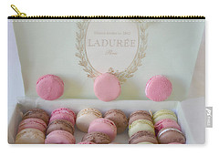 Paris Laduree Pastel Macarons - Paris Laduree Box - Paris Dreamy Pink Macarons - Laduree Macarons Carry-all Pouch