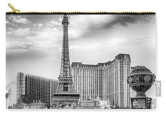 Carry-all Pouch featuring the photograph Paris Las Vegas by Howard Salmon