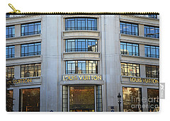 Paris Louis Vuitton Fashion Boutique - Louis Vuitton Designer Storefront In Paris Carry-all Pouch