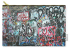 Carry-all Pouch featuring the photograph Paris Mountain Graffiti by Kathy Barney
