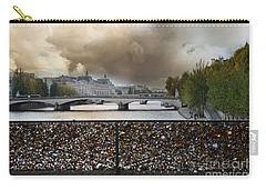 Paris Pont Des Art Bridge Locks Of Love Bridge - Romantic Locks Of Love Bridge View  Carry-all Pouch