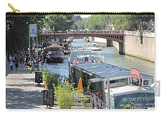 Paris - Seine Scene Carry-all Pouch by HEVi FineArt