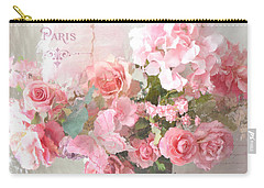 Paris Shabby Chic Dreamy Pink Peach Impressionistic Romantic Cottage Chic Paris Flower Photography Carry-all Pouch
