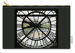 Carry-all Pouch featuring the photograph Paris Time by Ann Horn