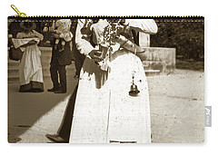 Carry-all Pouch featuring the photograph Parisian Woman Lady Paris France 1900 Historical Photo by California Views Mr Pat Hathaway Archives