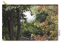Carry-all Pouch featuring the photograph Park Bench by Kate Brown