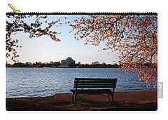 Park Bench With A Memorial Carry-all Pouch by Panoramic Images