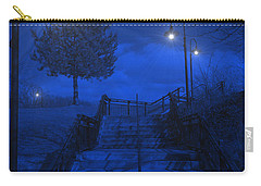 Carry-all Pouch featuring the photograph Park Stairs by Michael Rucker