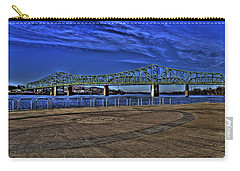 Carry-all Pouch featuring the photograph Parkersburg Point Park by Jonny D