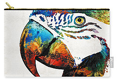 Parrot Head Art By Sharon Cummings Carry-all Pouch by Sharon Cummings