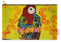 Carry-all Pouch featuring the tapestry - textile Parrot Oshun by Apanaki Temitayo M