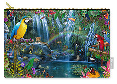 Parrot Tropics Carry-all Pouch by Alixandra Mullins