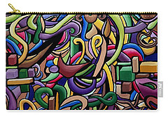 Party Life 2 - Modern Abstract Painting - Ai P. Nilson Carry-all Pouch