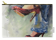 Party Shoes Carry-all Pouch by Judith Levins