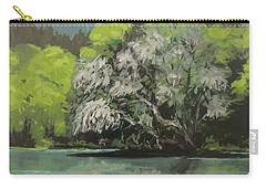 Carry-all Pouch featuring the painting Passing by Karen Ilari