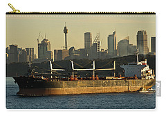 Carry-all Pouch featuring the photograph Passing Sydney In The Sunset by Miroslava Jurcik