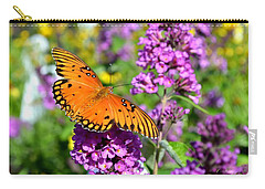 Carry-all Pouch featuring the photograph Passion Butterfly by Deena Stoddard