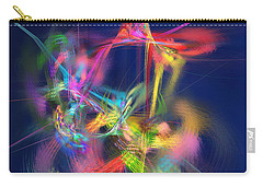 Passion Nectar - Circling The Flower Of Paradise Carry-all Pouch by Menega Sabidussi