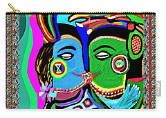 Passionate Kiss Kamasutra Khajuraho India Cave Style Art Navinjoshi Rights Managed Images Graphic De Carry-all Pouch