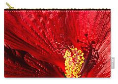 Passionate Ruby Red Silk Carry-all Pouch by Georgia Mizuleva