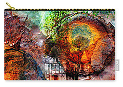 Past Or Future? Carry-all Pouch by Ally  White