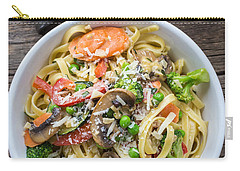 Pasta Primavera Dish Carry-all Pouch by Edward Fielding