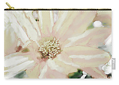 Pastel Daisy Photoart Carry-all Pouch by Debbie Portwood