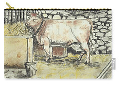 Cow In A Barn Carry-all Pouch by Francine Heykoop