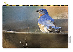 Pastel Eastern Bluebird Carry-all Pouch