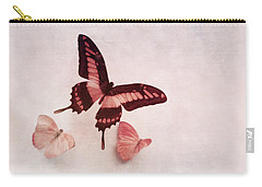 Pastel Pink Butterflies Carry-all Pouch