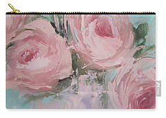 Pastel Pink Roses Painting Carry-all Pouch