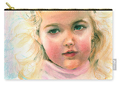 Pastel Portrait Of An Angelic Girl Carry-all Pouch