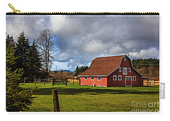 Carry-all Pouch featuring the photograph Pasture For Rent by Jean OKeeffe Macro Abundance Art