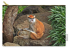 Carry-all Pouch featuring the photograph Patas Monkey by Kate Brown