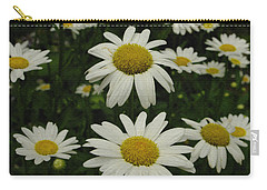 Carry-all Pouch featuring the photograph Patch Of Daisies by James C Thomas